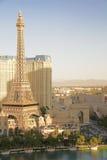 Hotelowy i Kasynowy paryski Las Vegas Fotografia Royalty Free