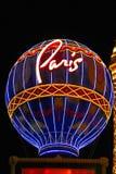 Hotelowy i Kasynowy paryski Las Vegas Zdjęcie Stock