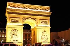 Hotelowy i Kasynowy paryski Las Vegas Obrazy Royalty Free
