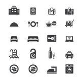 Hotelowy ikona set Obrazy Stock