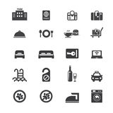 Hotelowy ikona set royalty ilustracja