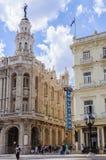 Hotelowy Inglaterra i Wielki teatr w Hawańskim, Kuba Obraz Stock