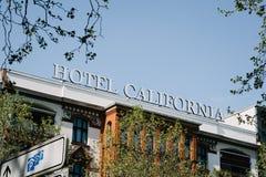 Hotelowy Kalifornia znak Zdjęcie Stock