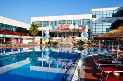 Hotelowy kurort, konwencja i funkcja, Cenntre, Tirana, Albania fotografia stock