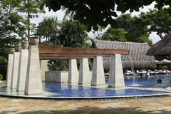 Hotelowy kurortu basen Zdjęcie Stock