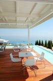 hotelowy luksusowy nowożytny restauracyjny denny widok Zdjęcie Royalty Free