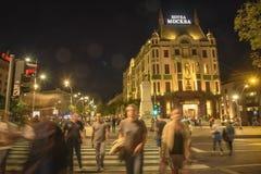Hotelowy Moskva, Hotelowy Moskwa w Belgrade, Serbia Zdjęcie Royalty Free