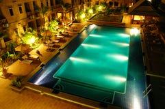 Hotelowy pływacki basen Fotografia Royalty Free