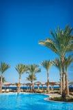 Hotelowy pływacki basen w lecie Egipt Zdjęcie Stock