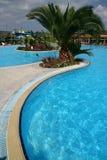 Hotelowy pływacki basen w Rhodes wyspie Zdjęcia Stock