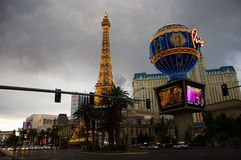 Hotelowy Paryż w Las Vegas obraz stock