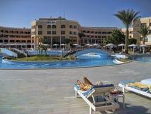 Hotelowy PickAlbatros w Hurghada jest popularnym turystycznym miejsce przeznaczenia zdjęcia stock