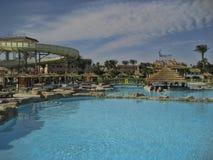 Hotelowy PickAlbatros w Hurghada jest popularnym turystycznym miejsce przeznaczenia fotografia royalty free