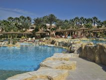 Hotelowy PickAlbatros w Hurghada jest popularnym turystycznym miejsce przeznaczenia obrazy royalty free