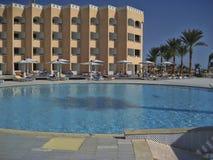 Hotelowy PickAlbatros w Hurghada jest popularnym turystycznym miejsce przeznaczenia fotografia stock