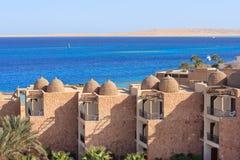 hotelowy pobliski morze Obrazy Royalty Free