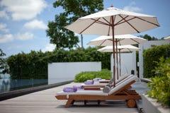 hotelowy poolside Zdjęcia Stock