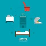 Hotelowy projekt Usługowa ikona Płaska ilustracja, wektor ilustracja wektor
