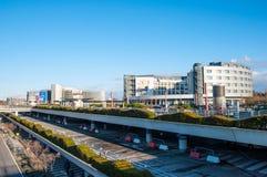 Hotelowy Radison Błękitny przy Hamburskim lotniskiem i garaż obraz stock