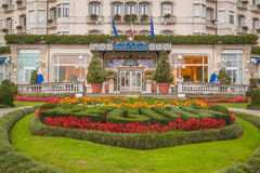 Hotelowy Regina pałac, Stresa, Włochy Zdjęcia Royalty Free