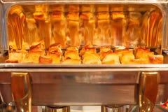 Hotelowy restauracyjny karmowy catering usługa bufeta bankiet dla ślubnych ceremonii, konwersatoriów, spotkań, konferencj, przyję obraz stock