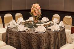 Hotelowy restauracyjny miejsce wydarzenia, karmowy catering usługa bufet lub koktajlu bankiet dla ślubnych ceremonii, konwersator fotografia stock
