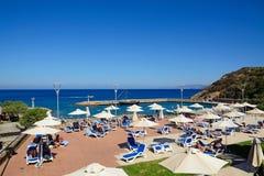 Hotelowy słońce taras, Agios Nikolaos Obrazy Stock