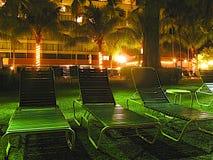 Hotelowy widok - słońce hole przy nocą Zdjęcia Royalty Free