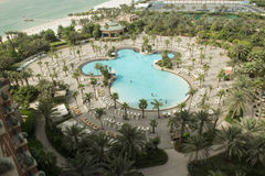 Hotelpool το Atlantis, Ντουμπάι Στοκ Φωτογραφίες