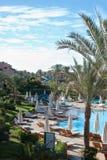 Hotelpool mit fünf Sternen Lizenzfreies Stockfoto