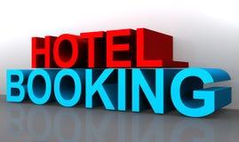 Hotelreservering royalty-vrije illustratie