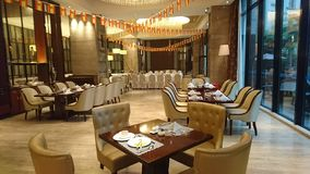 Hotelrestaurant mit 5 Sternen in Guangzhou lizenzfreies stockbild