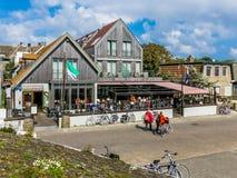 Hotelrestaurant in oosten-Vlieland, Holland Stock Foto's