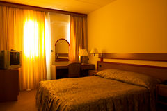 Hotelroom Royalty-vrije Stock Afbeeldingen