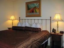 Hotelroombed Stock Afbeelding