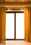 Hotelruimte en leeg venster Royalty-vrije Stock Fotografie