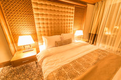Hotelruimte met modern binnenland Royalty-vrije Stock Foto's