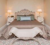 Hotelruimte met modern binnenland Royalty-vrije Stock Afbeelding