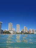 Hotels abd Resorts in Waikiki, Hawaii Stock Photography