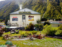 Hotels, Accommodation, New Zealand. Otira Stagecoach Hotel built 1865, restored 1902 Arthur`s Pass National Park. New Zealand Royalty Free Stock Photo