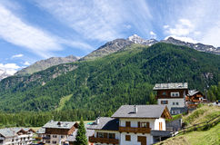 Hotels in Alps. Hotels in Italian Alps in st. Katerina stock image