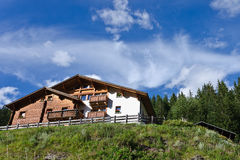 Hotels in Alps. Hotels in Italian Alps in st. Katerina stock photo