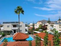 Agia Marina tourist resort, Crete, Greece stock photos