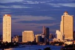 Hotels area, Bangkok Stock Images