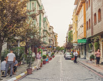 Hotels area in Fatih Istanbul. Royalty Free Stock Image