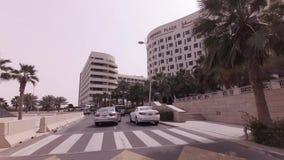 Hotels auf Yas-Insel im Abu Dhabi-Vorratgesamtlängenvideo stock video