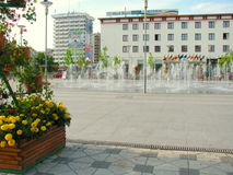Hotels in Bacau. Bacău is the main city in Bacău County, Romania. As of 2011 census, it is the 15th largest city in Romania Stock Images