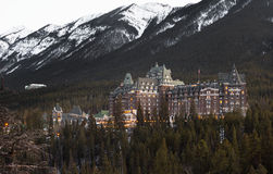 Hotels of Banff, Ablerta Stock Photography