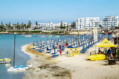 Hotels and beach at Fig tree Bay in Protaras .Cyprus. Stock Photography