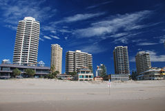 Hotels on the beach, Goldcoast Stock Images